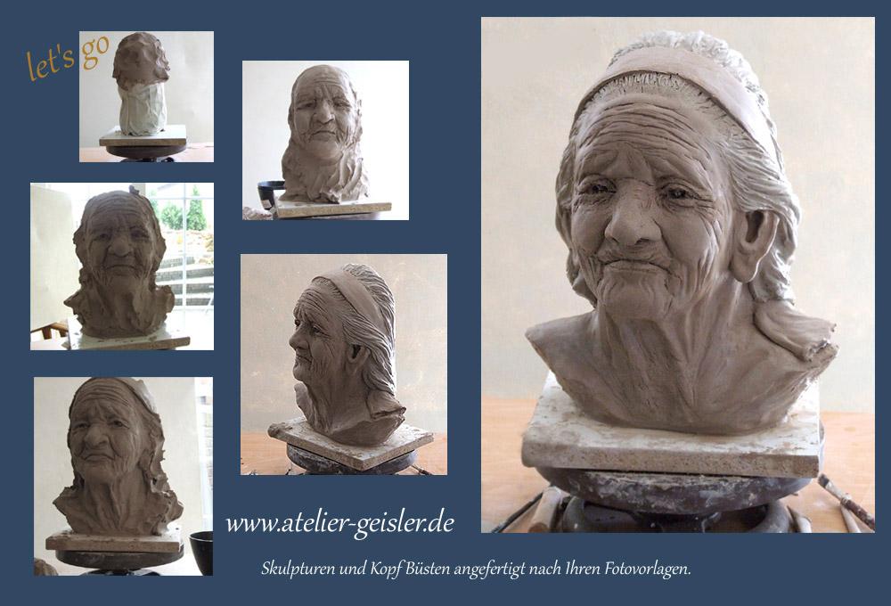 Bildhauerei nach Maß, persönliche Büsten, Kopf Büste, Skulpturen ...