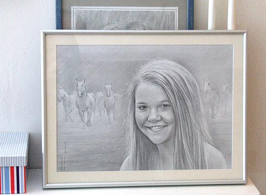 Kinderportrait Kinderportraits Kinder Portrait Handgemalt Kind